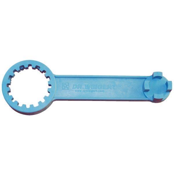 Der Kanisterschlüssel Universal soll die Öffnung eines Kanisters erleichtern und die Finger schonen