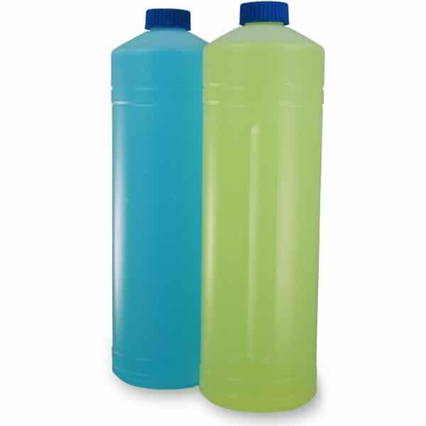 PE-Rundflasche mit/ohne Griffmulde 1 Liter