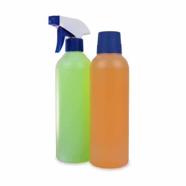 PE-Rundflasche 500 ml Sprühkopf und Deckel