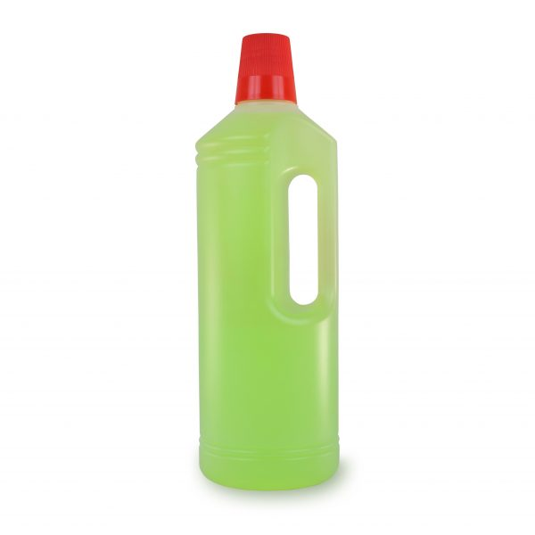 PE-Rundflasche mit Griff 1 Liter in natur-transparent