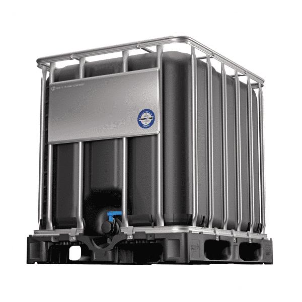 Dieser IBC Container mit UV-Schutz wird bei empfindlichen Produkten verwendet.
